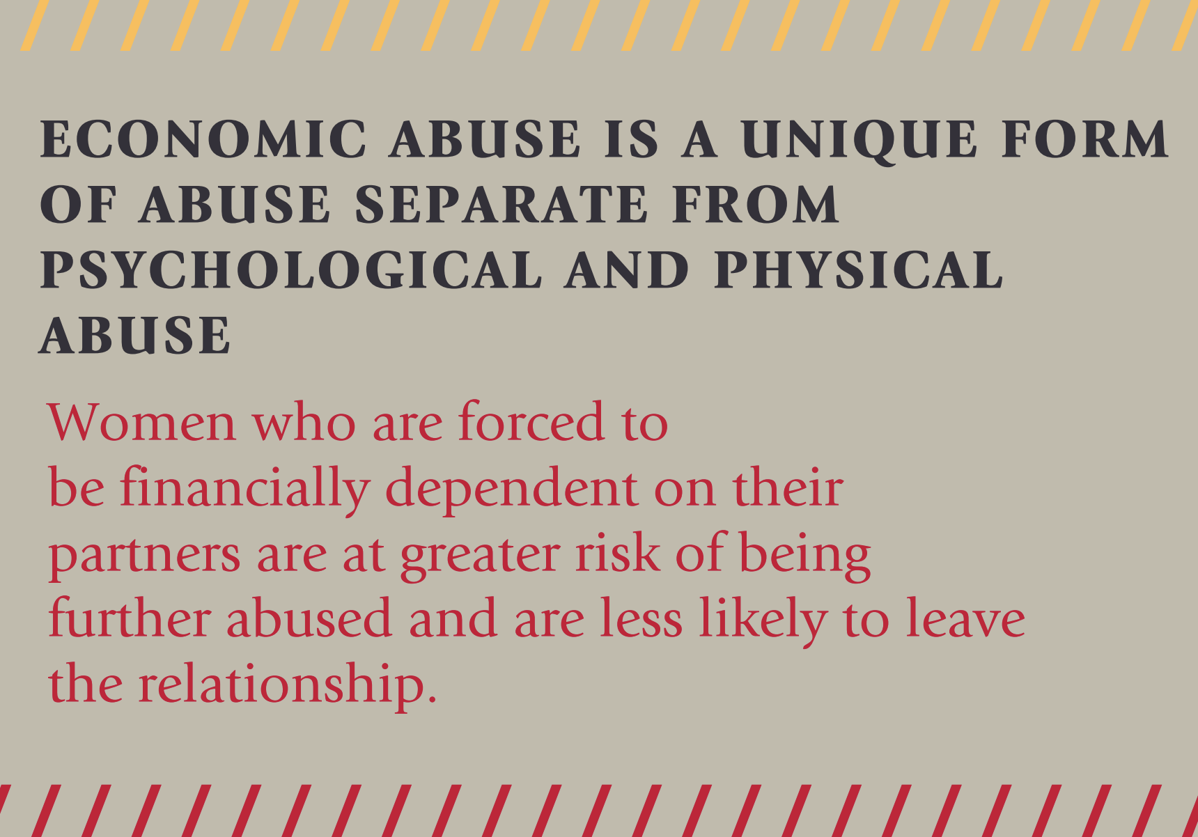 Economic Abuse in the Life of Survivors -