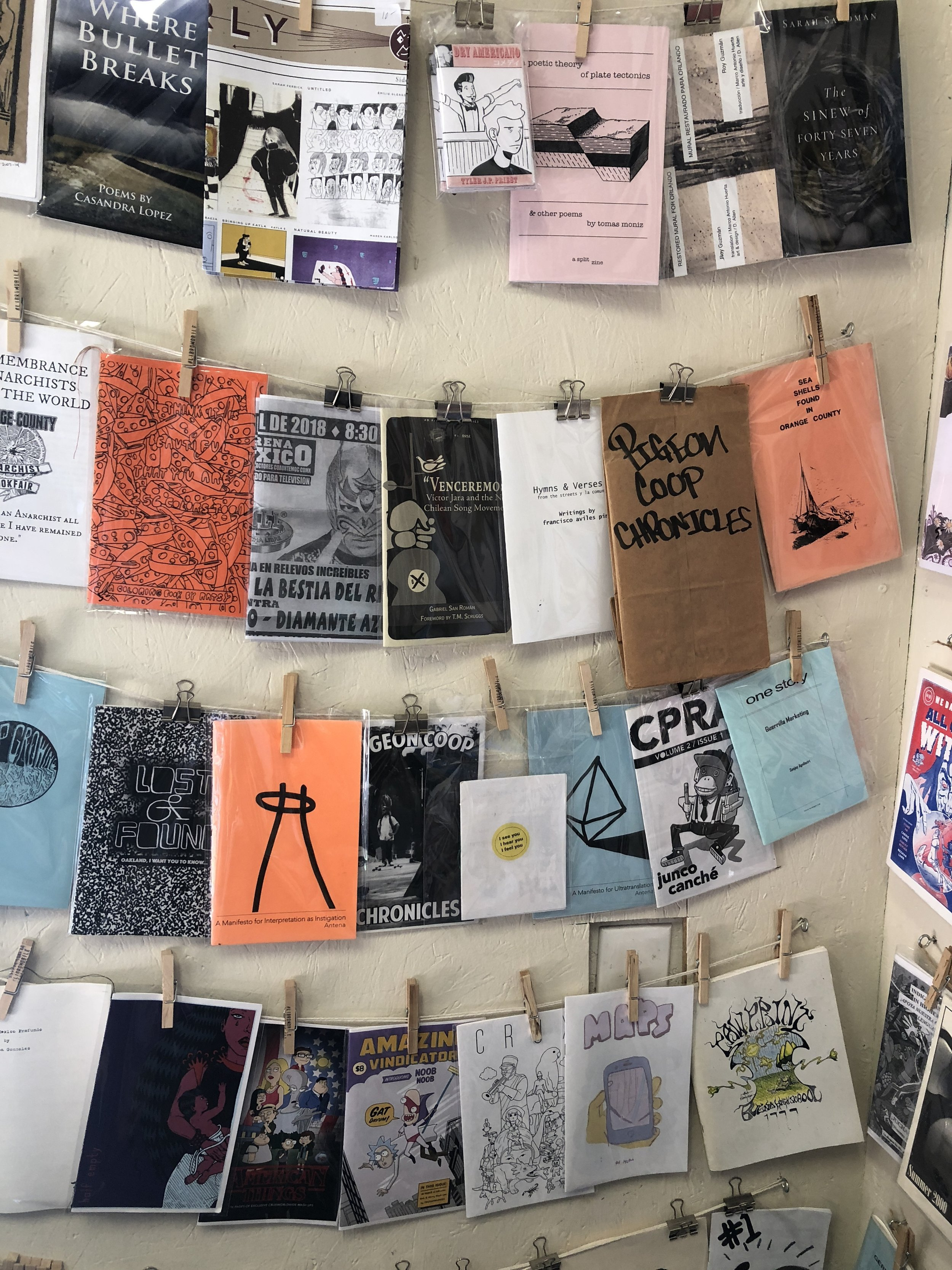 Zines at  Libro Mobile . Santa Ana, California.