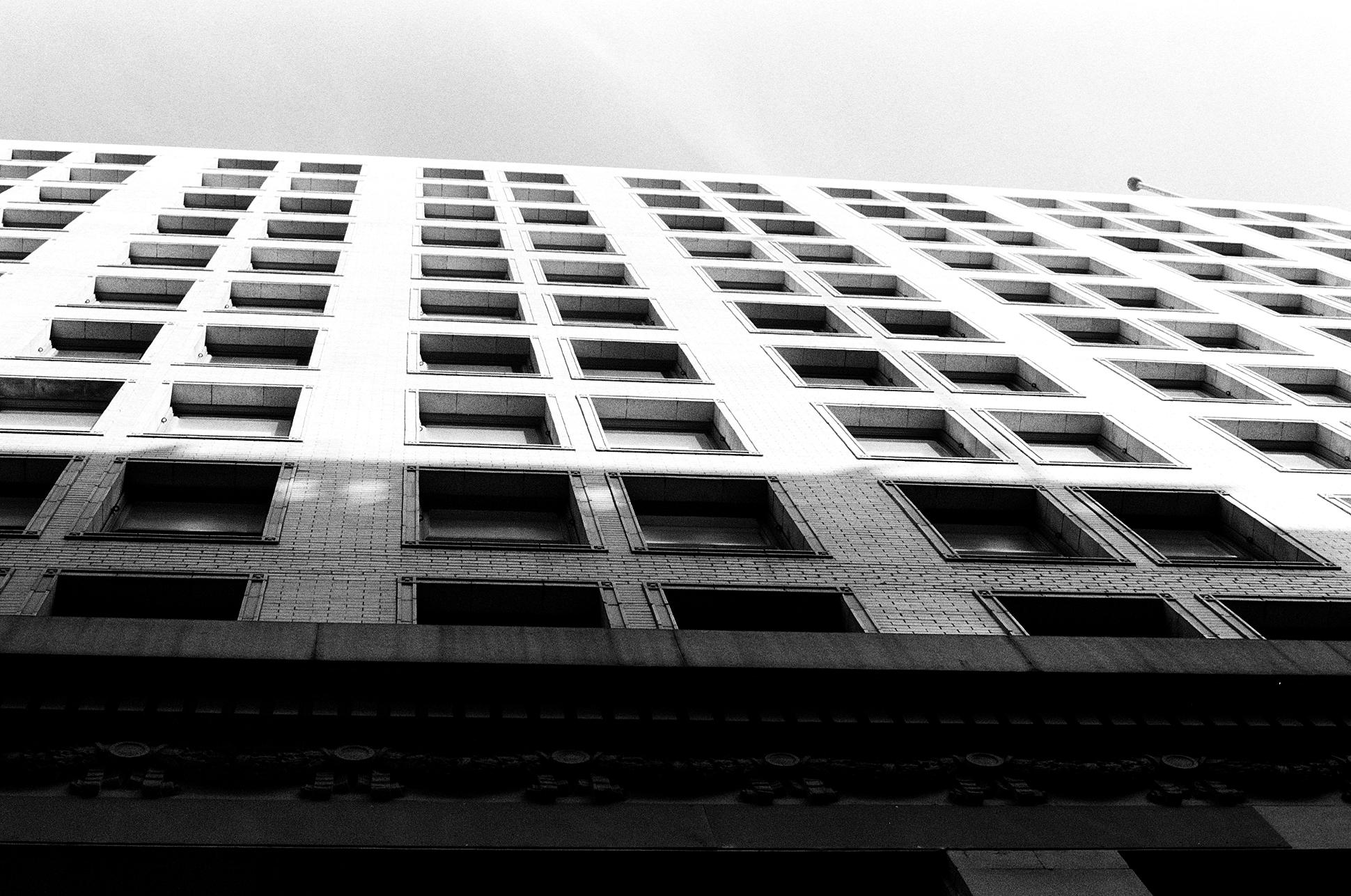Downtown.  Pentax K1000. Kodak Tri-X 400. Fletcher Berryman 2018.