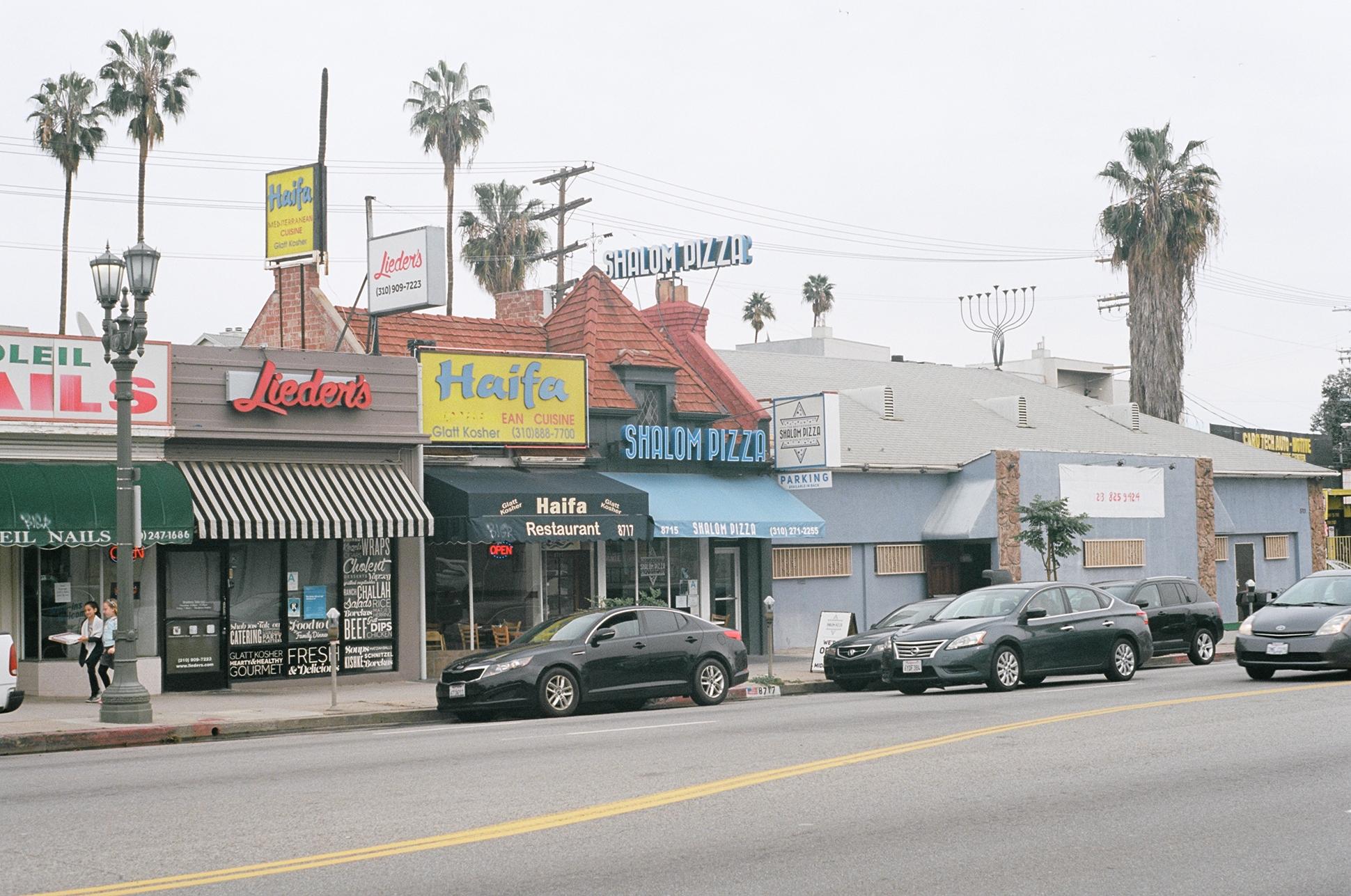 Shalom Pizza in Pico-Robertson, Los Angeles.  Kodak Ektar 100. Pentax K1000. Fletcher Berryman 2019.