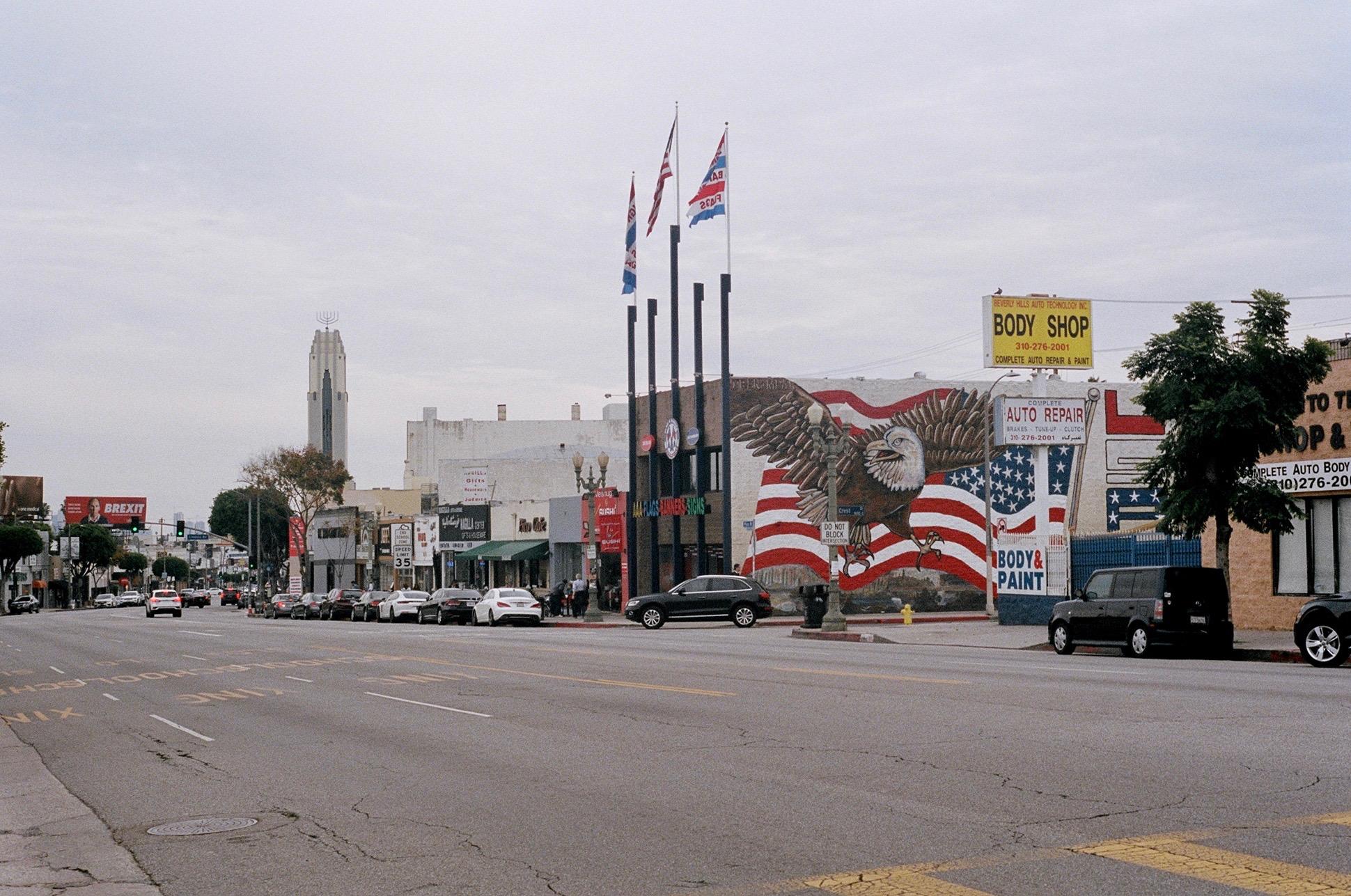 Driving through, Pico-Robertson looks like most of Los Angeles. It's walking that really offers up its gems.  Kodak Ektar 100. Pentax K1000. Fletcher Berryman 2019.