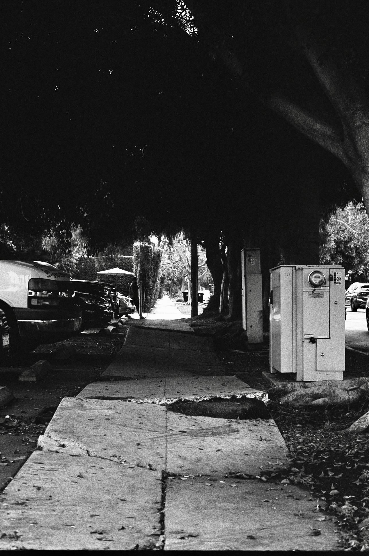 Pico-Robertson, Los Angeles.  Kodak Tri-X 400. Pentax K1000. Fletcher Berryman 2019.