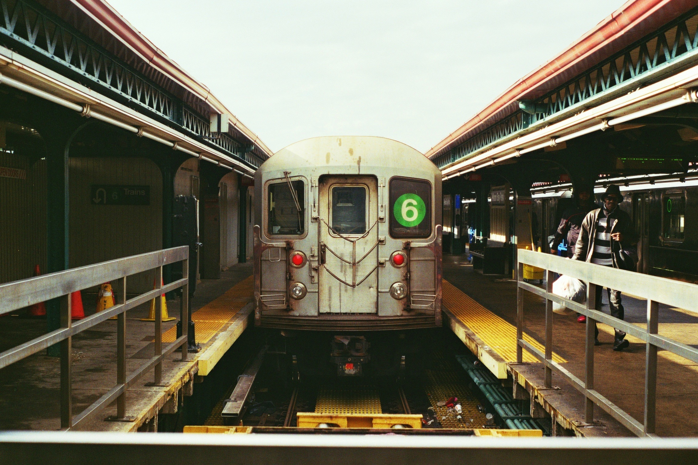 The end of the line. Pelham Bay Park Station, The Bronx.  Kodak Ultra Max 400. Pentax K1000. Fletcher Berryman 2019.