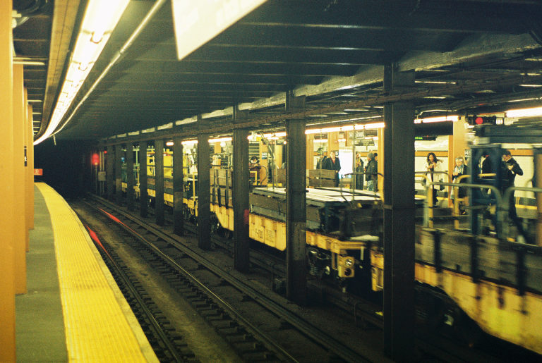 "The elusive ""ghost train""…haters will say it's not real. Sugar Hill, Manhattan.  Kodak Ultra Max 400. Pentax K1000. Fletcher Berryman 2019."