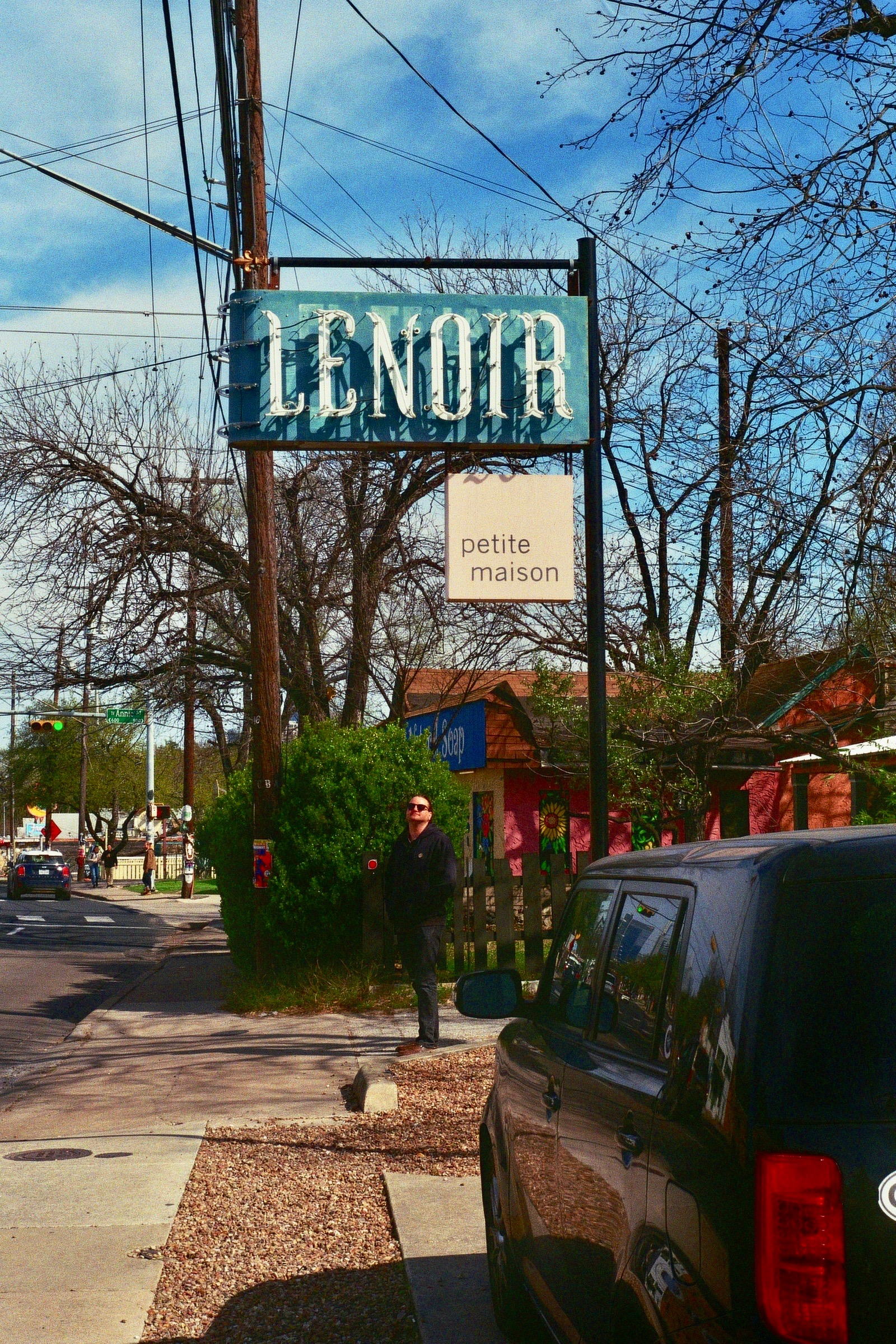 Bouldin, with local friend Rob pictured.  Austin, TX.  Kodak Ultra Max 400. Pentax K1000. Fletcher Berryman 2019.
