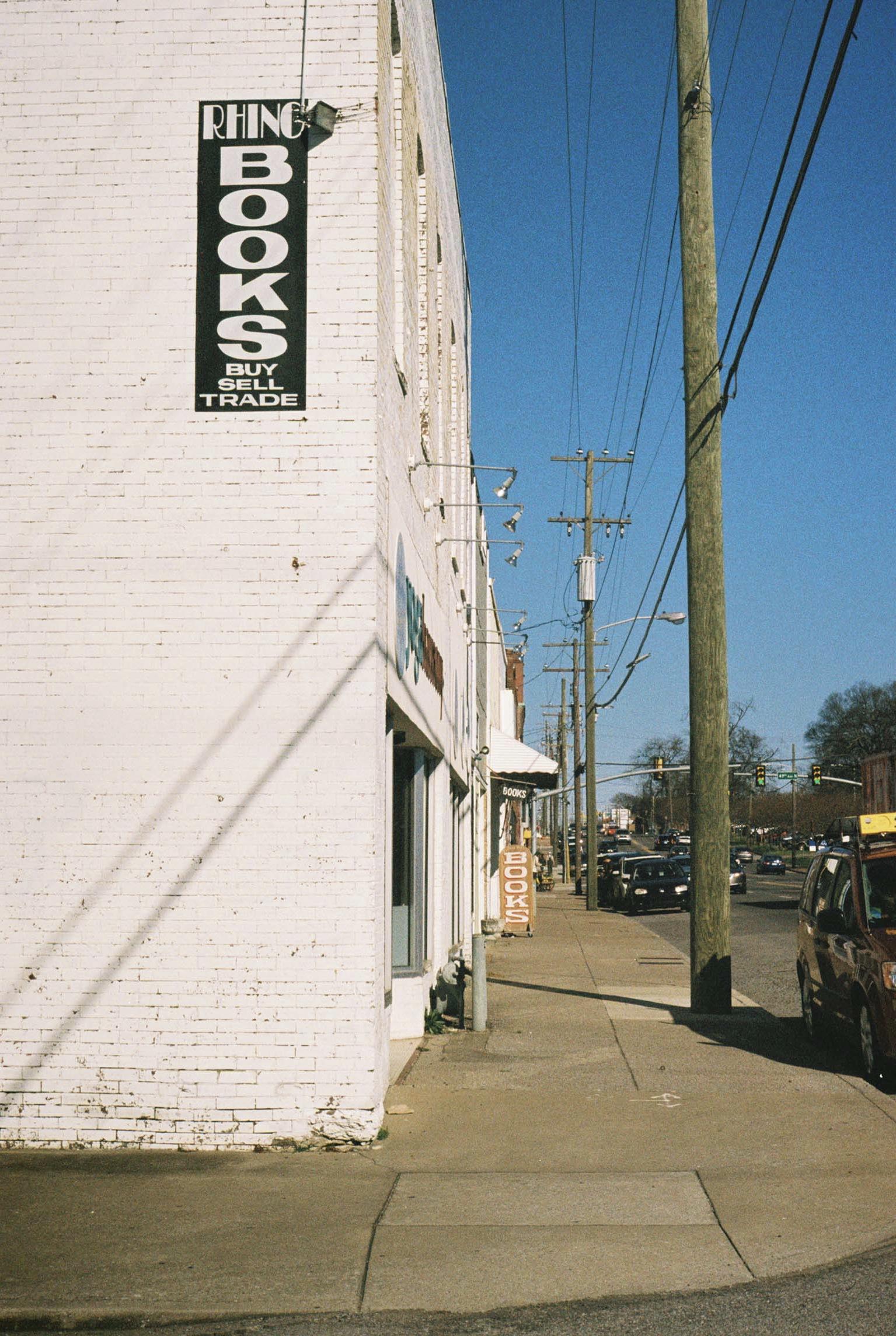 Rhino Books.  Nashville, Tennessee.  Kodak Ultra Max 400. Pentax K1000. Fletcher Berryman 2019.