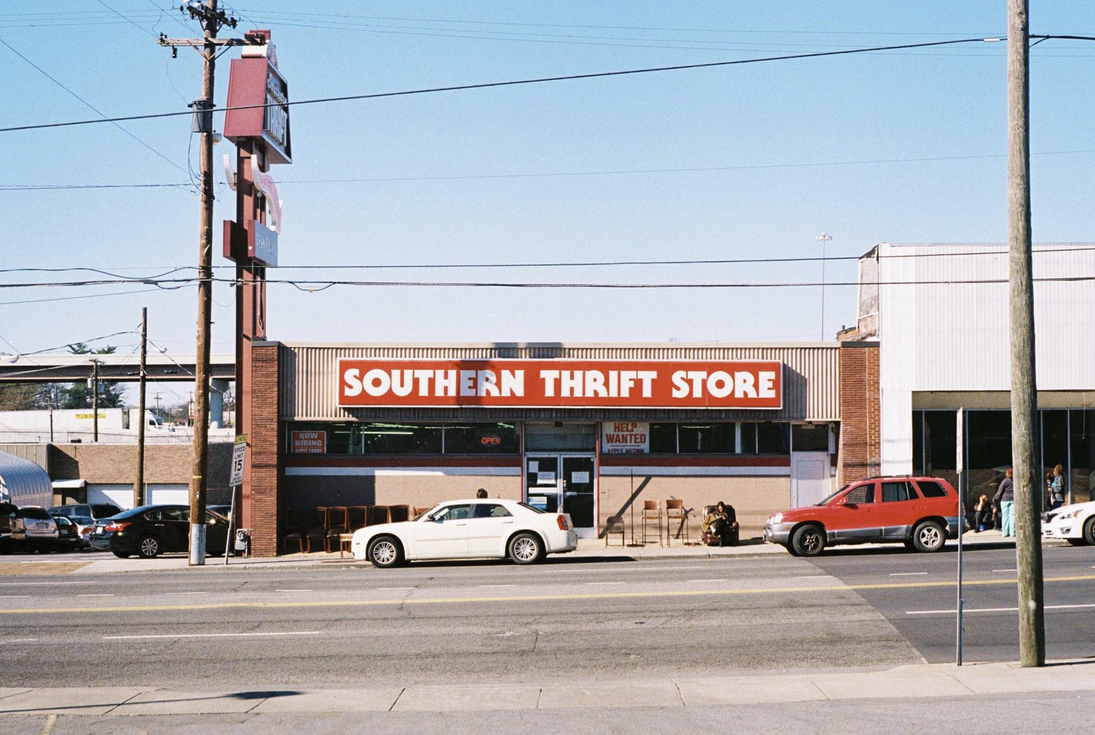 Southern Thrift Store.  Nashville, Tennessee.  Kodak Ultra Max 400. Pentax K1000. Fletcher Berryman 2019.
