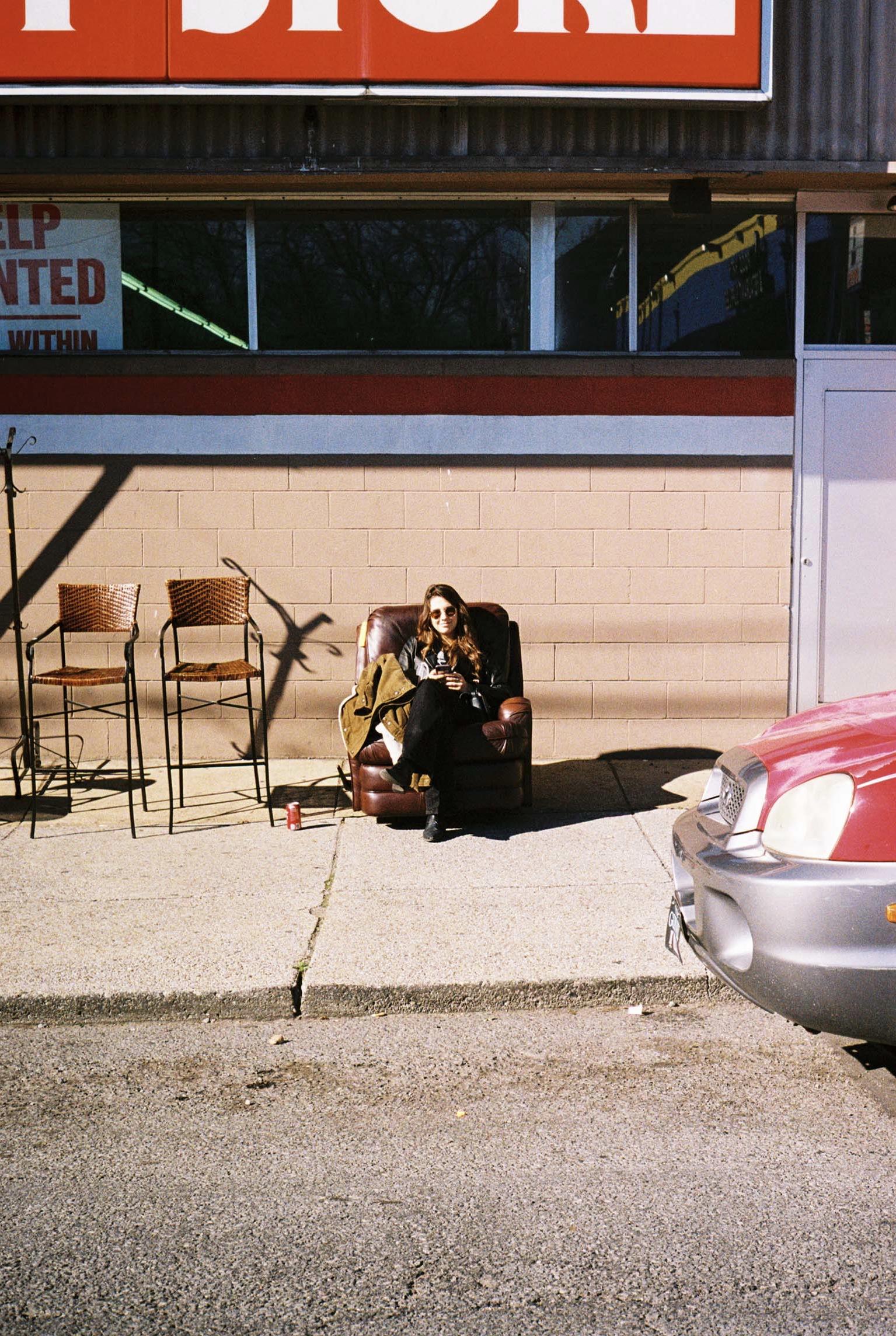 Out front of Southern Thrift Store.  Nashville, Tennessee.  Kodak Ultra Max 400. Pentax K1000. Fletcher Berryman 2019.