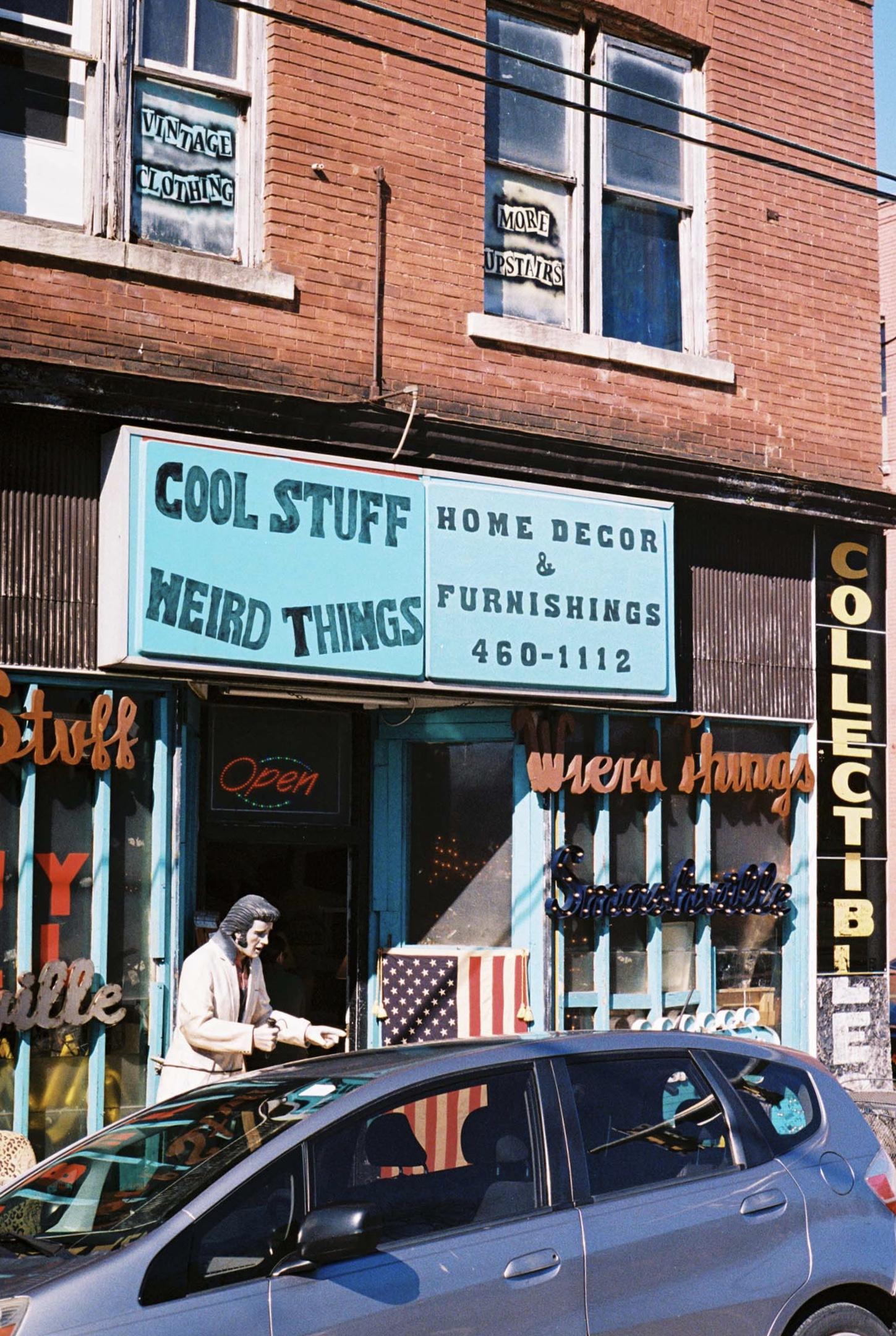Cool Stuff Weird Stuff Things.  Nashville, Tennessee.  Kodak Ultra Max 400. Pentax K1000. Fletcher Berryman 2019.