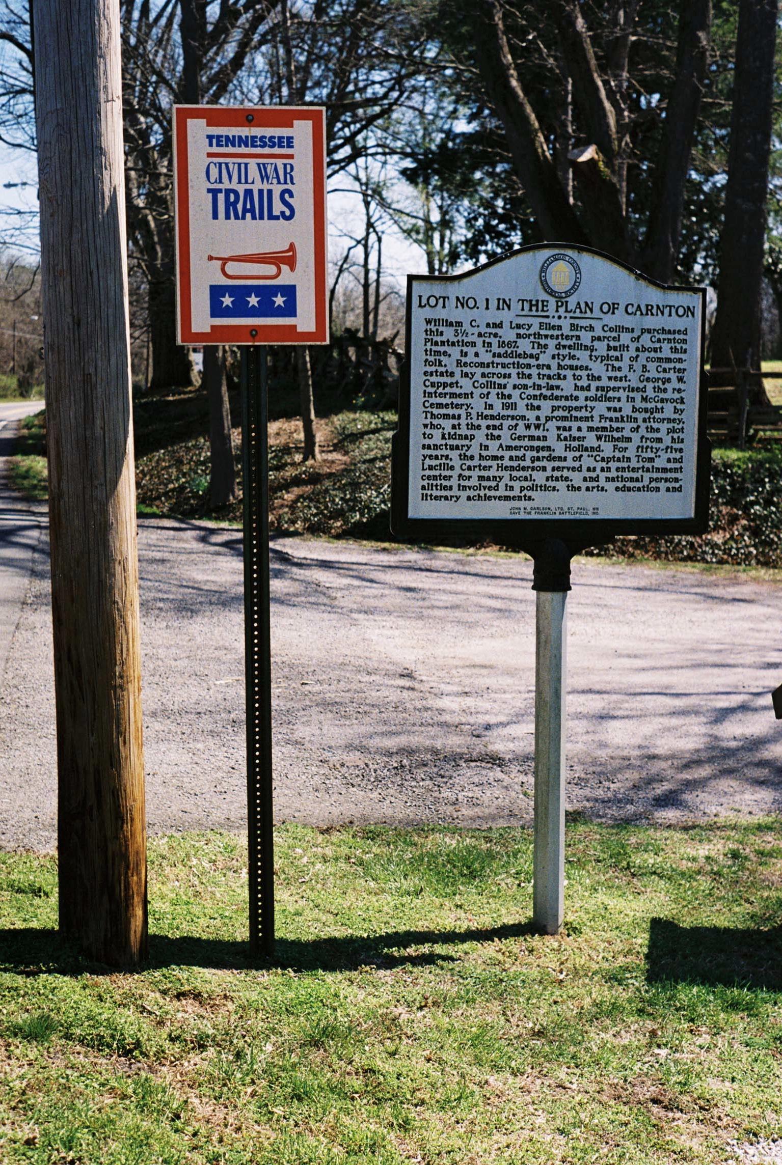 Carnton.  Franklin, Tennessee.    Kodak Ultra Max 400. Pentax K1000. Fletcher Berryman 2019.