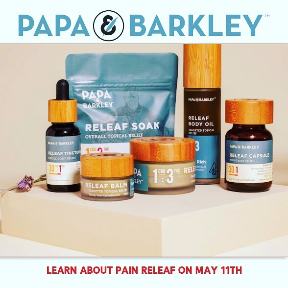 The Goodlife is proud to have Papa and Barkley at our Seminar. Discover effective #cannabis products for #pain and #wellness....come and find RELEAF on May 11th at the Del Mar fairgrounds