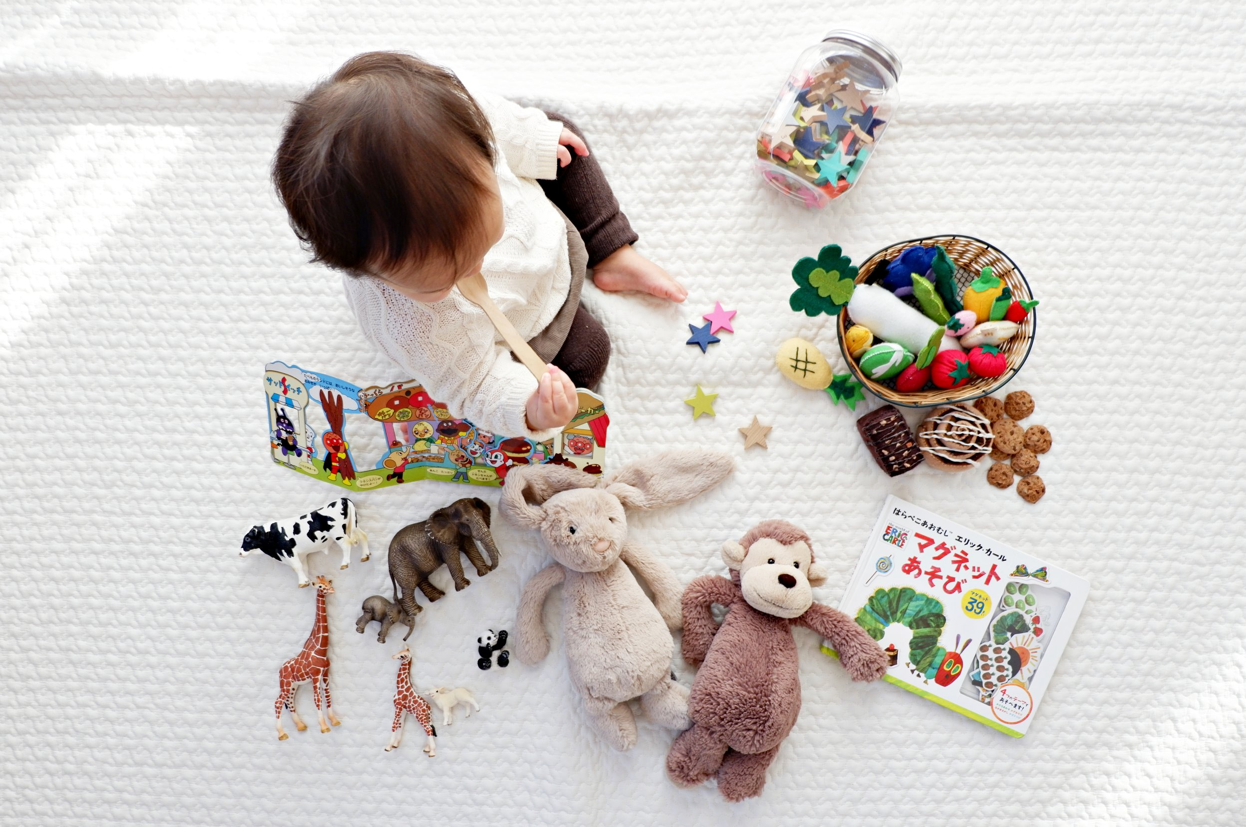 The types of toys…not the number of toys is important!