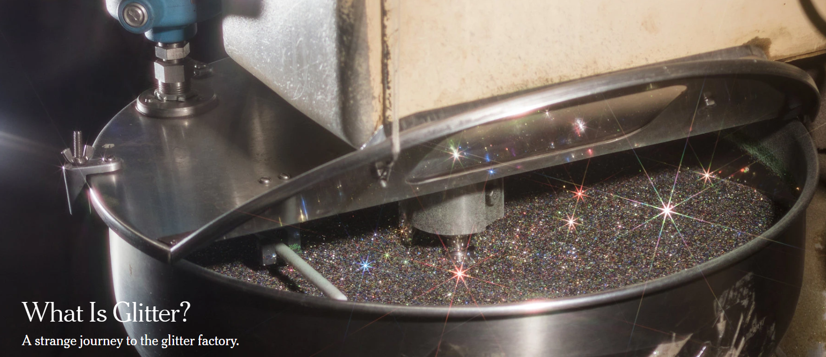 Ah, the shimmer of aluminum metalized polyethylene terephthalate. [Photo: Chris Maggio for The New York Times]