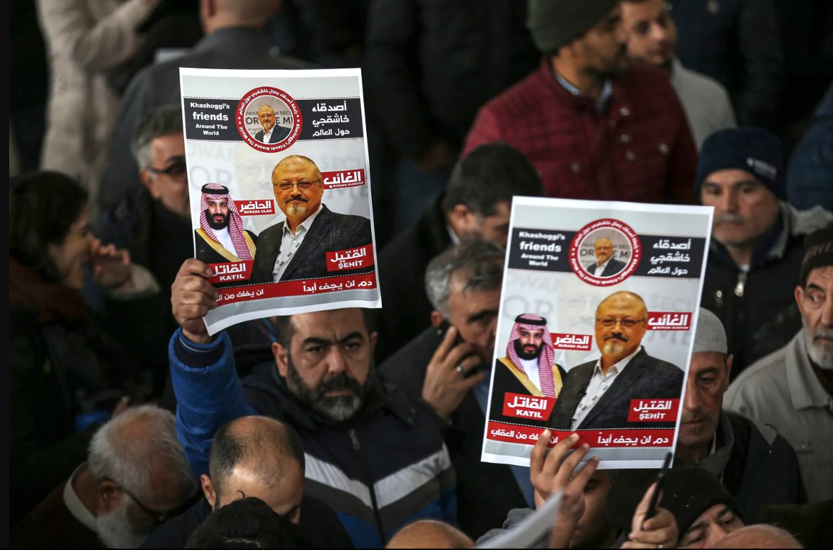 Jamal Khashoggi's death was a reminder of the dangers journalists across the world faced in 2018.  [Emrah Gurel/AP]