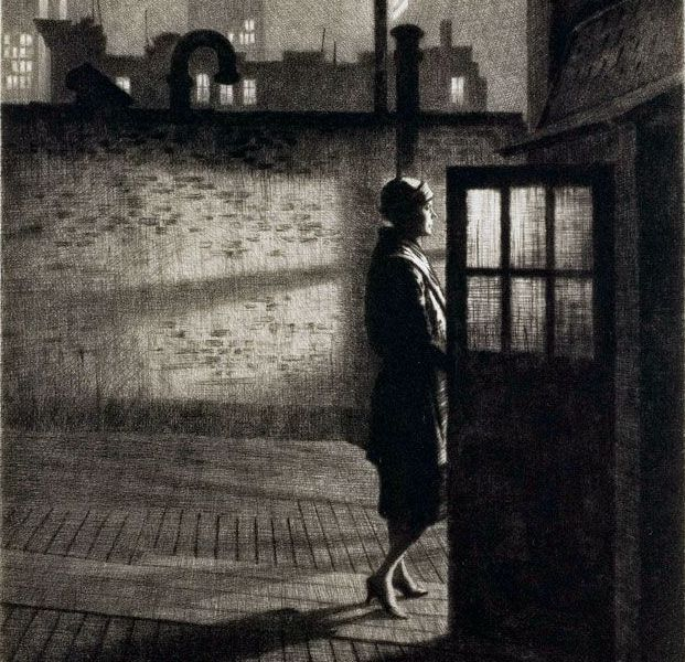 [Etching by Martin Lewis]