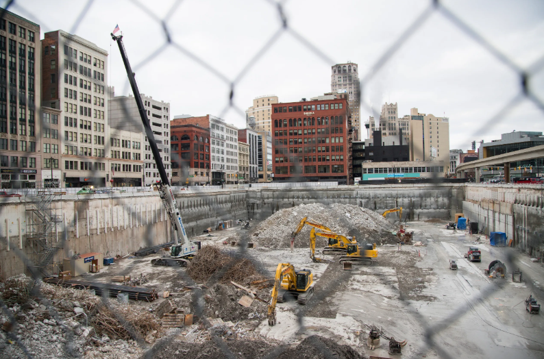 Hudson's site in downtown Detroit, Tuesday, Dec. 4, 2018.  [Photo: Junfu Han / Detroit Free Press]