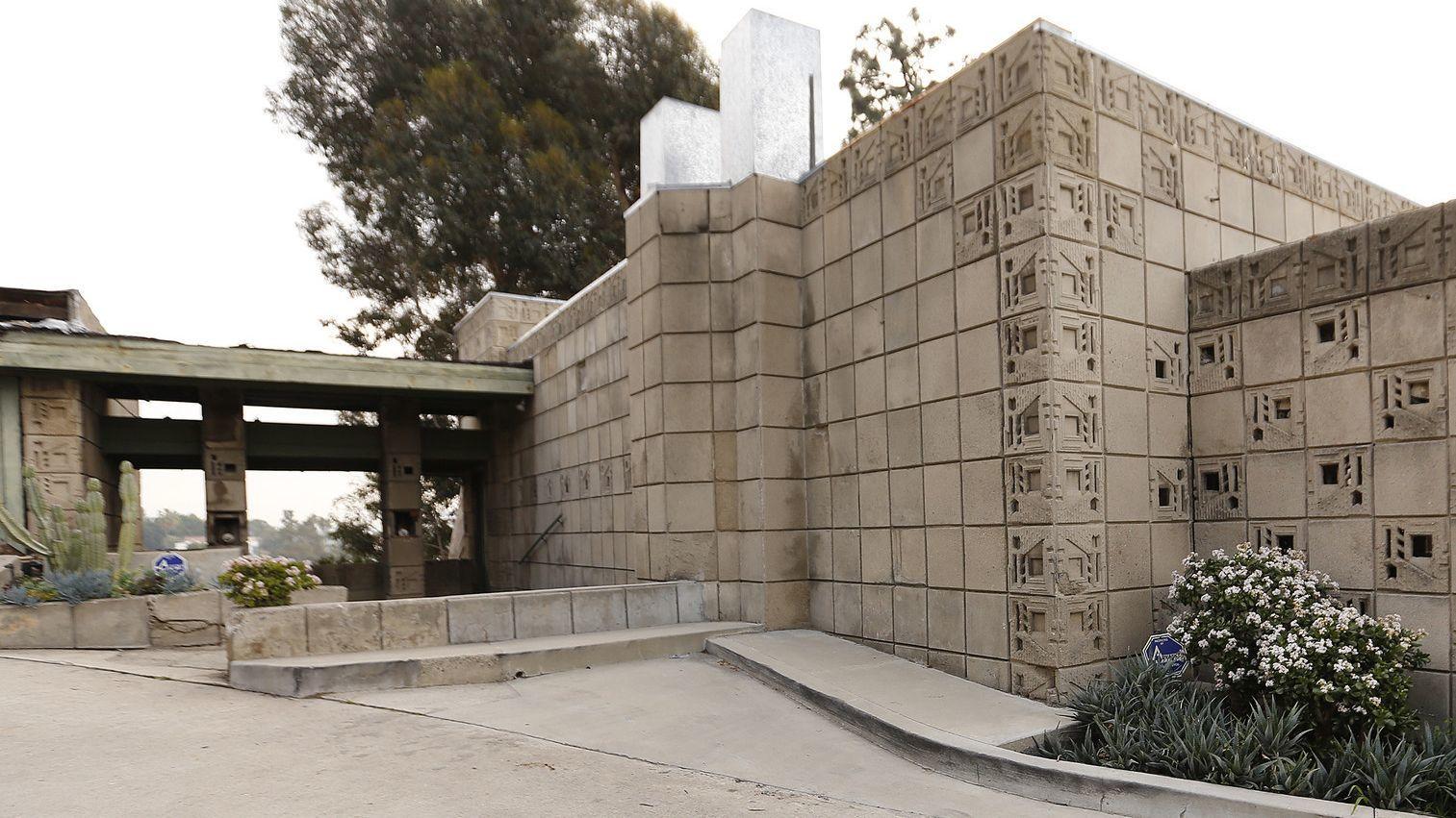 Frank Lloyd Wright's Freeman House is seen in 2019. [Al Seib / Los Angeles Times]