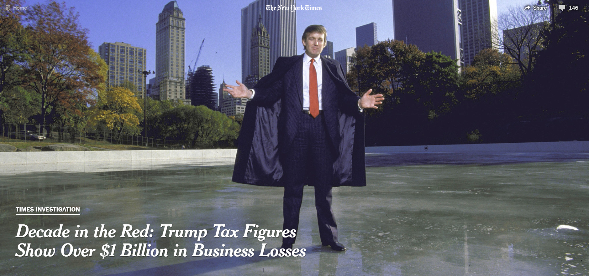 Donald J. Trump in 1986, during a tumultuous period of his career marked by acquisition and collapse.  [Photo: Ted Thai/The LIFE Picture Collection, via Getty Images]