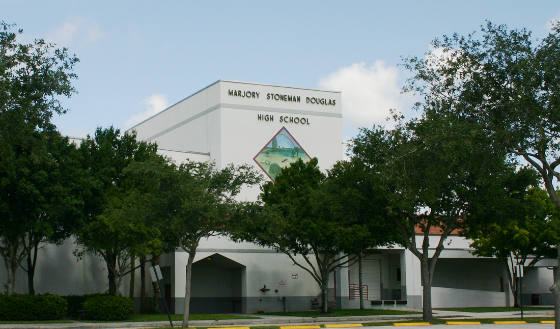 Marjory Stoneman Douglas High School in Parkland, Florida, which was the site of one of the deadliest school shootings in U.S. history, is one of the latest to turn to a complex camera-software combination called Avigilon. [Photo: Wikipedia]