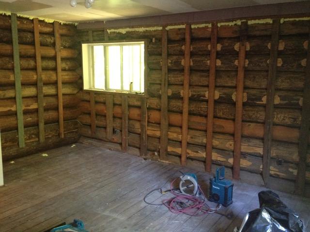 Before Bedroom log walls.jpeg