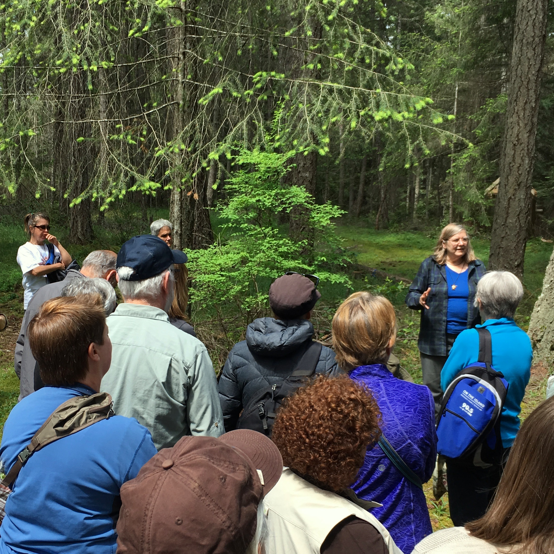 Tour with Dr. Nancy Turner -  photo by Cheryl Bancroft