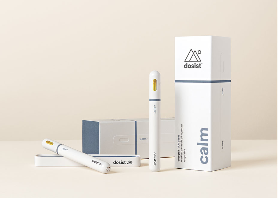 Courtesy of Brand  The Calm pen from cannabis wellness brand dosist, beloved by stylist Kate Young and makeup artist Jenn Streicher.