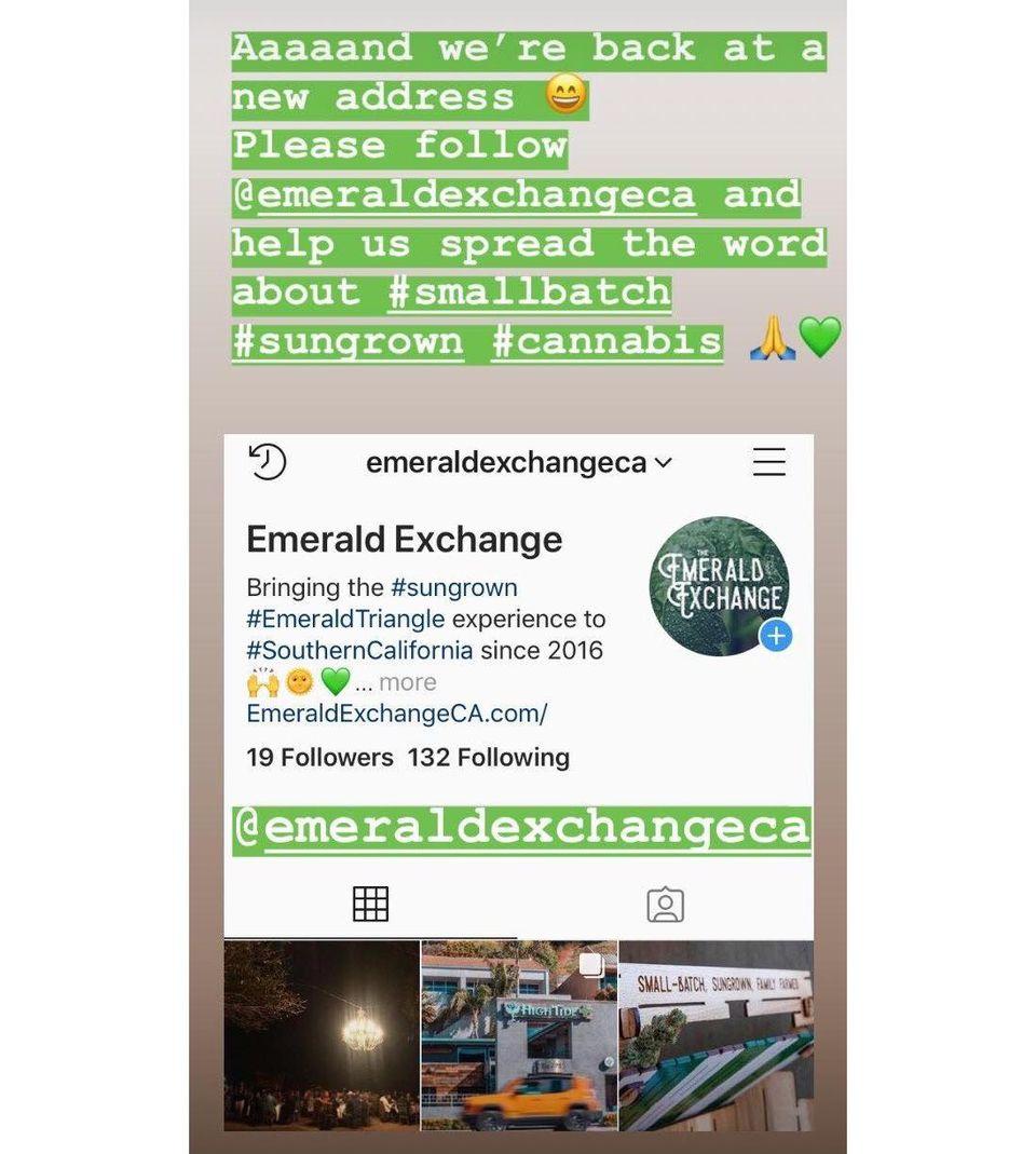 New Emerald Exchange Instagram account to replace deleted one.  INSTAGRAM.COM/EMERALDOUTPOST
