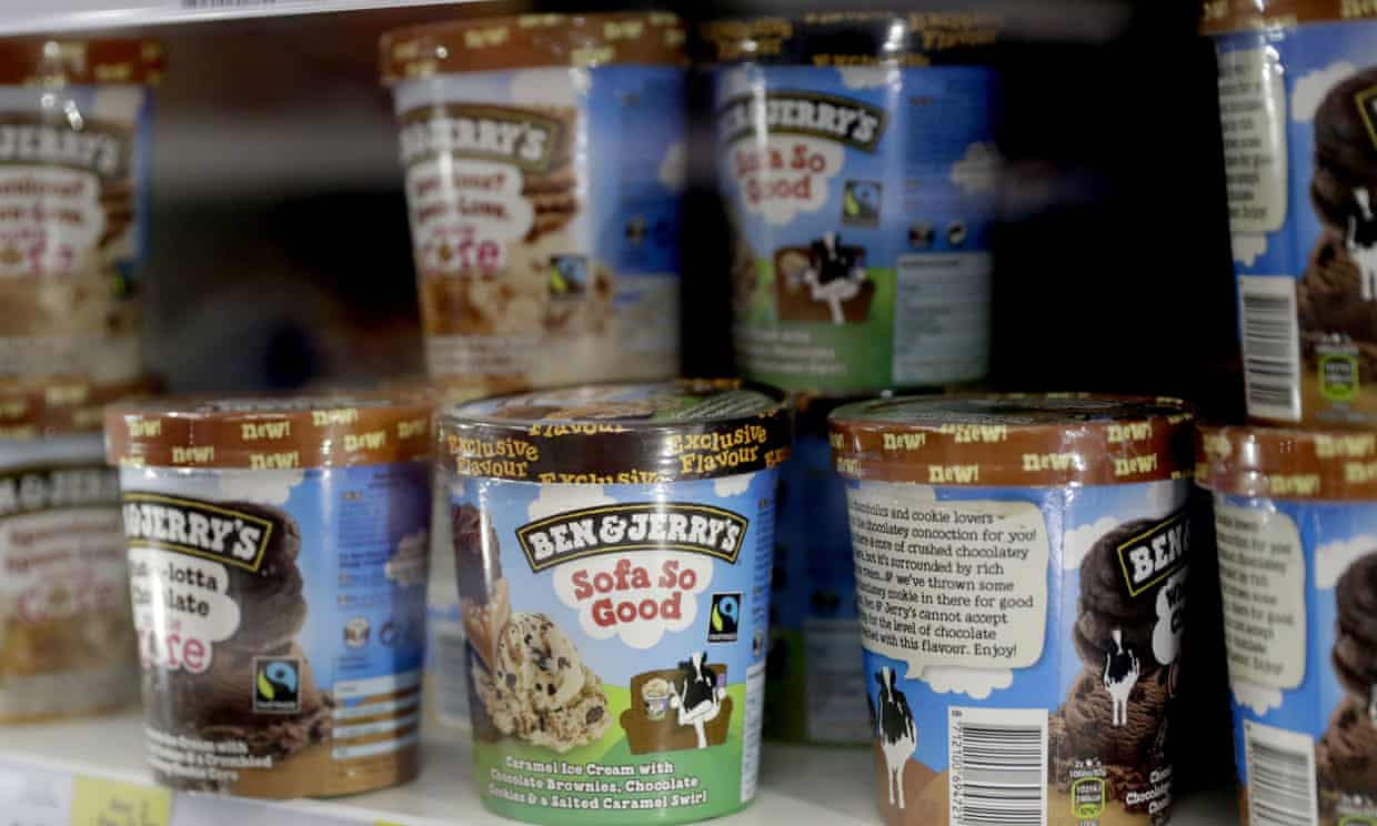 Ben & Jerry's is encouraging fans to contact the FDA during a public consultation period on the use of CBD in food now through July. Photograph: Matt Dunham/AP