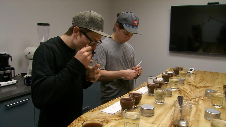 The tasting room at Strava Coffee in Denver.  CBS NEWS