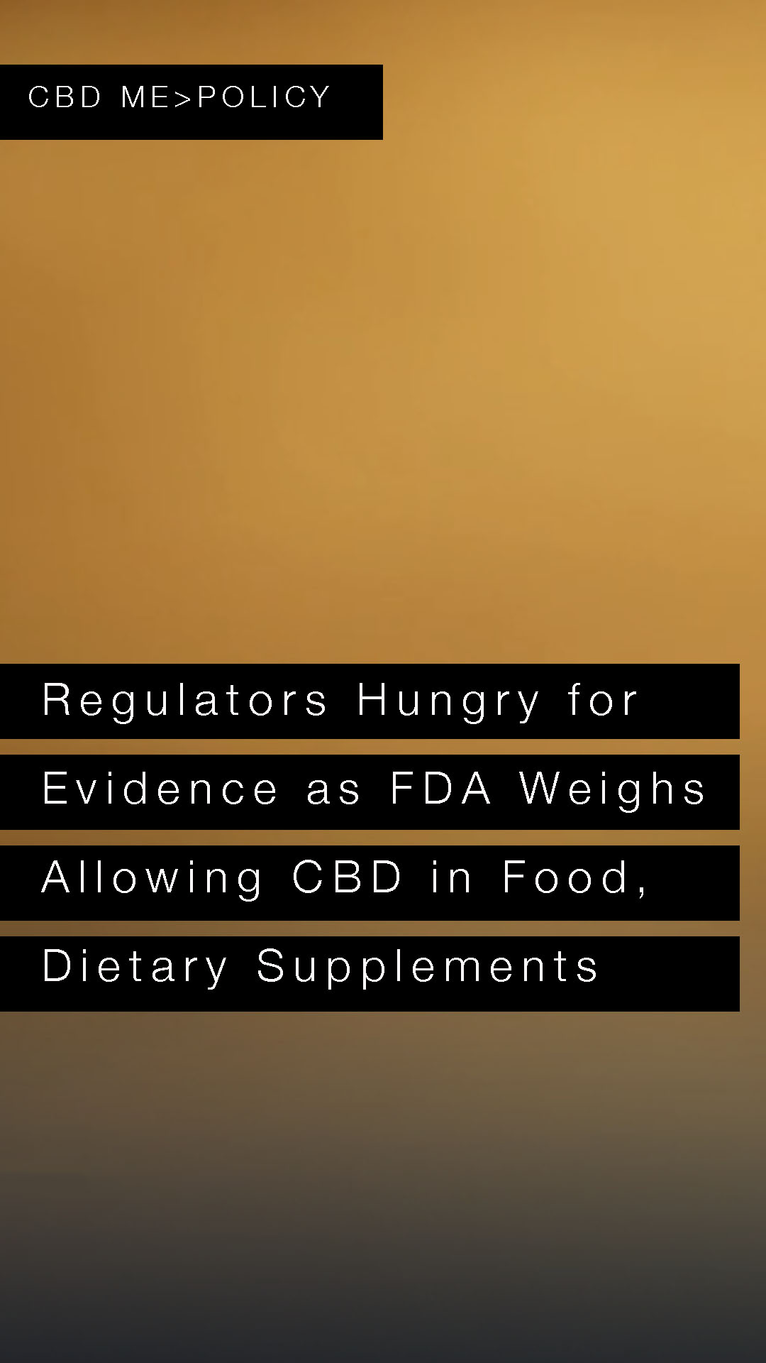 Regulators hungry for evidence as FDA weighs allowing CBD in food, dietary supplements | CNBC