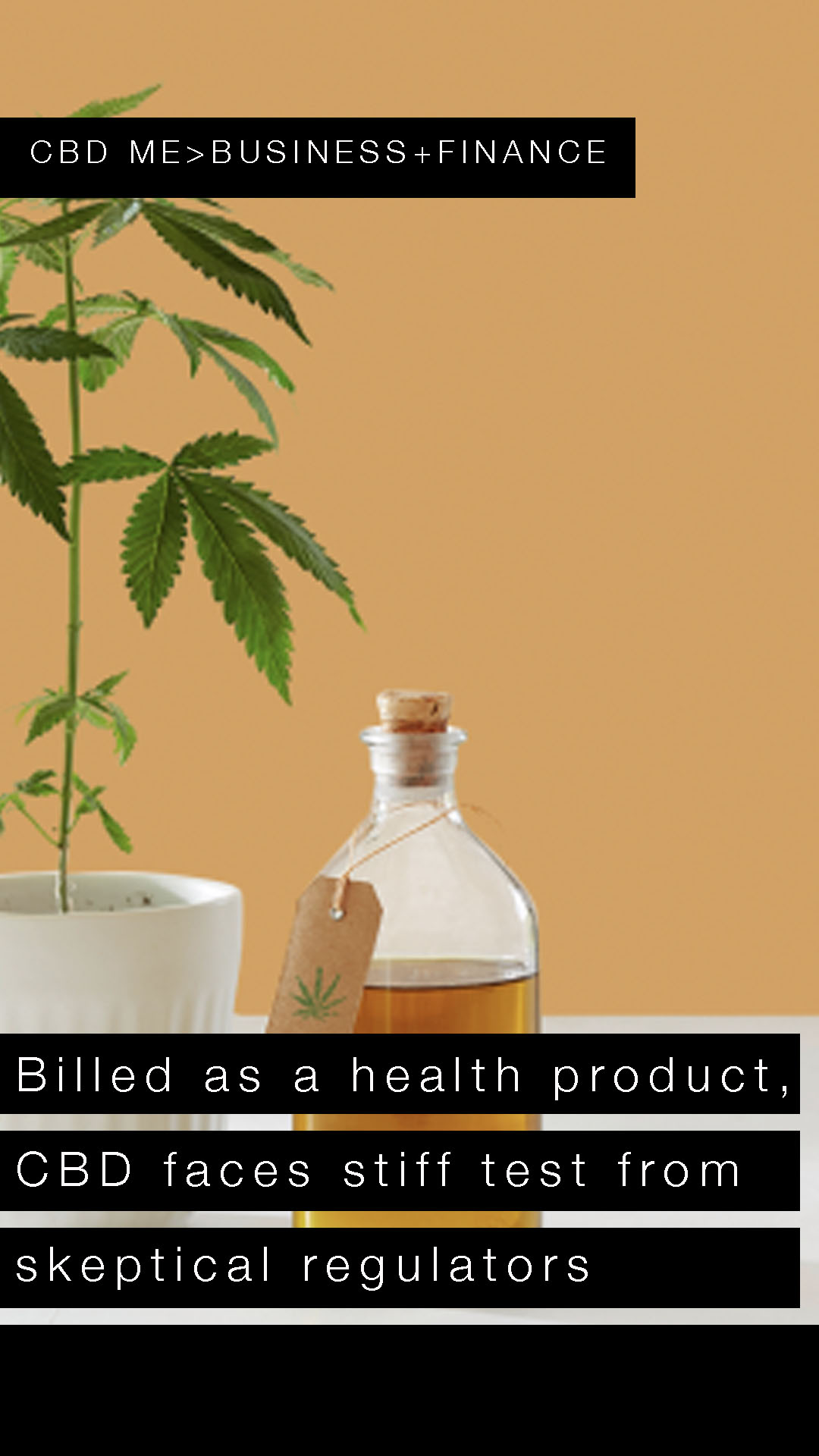 Billed as a health product, CBD faces stiff test from skeptical regulators | YAHOO FINANCE