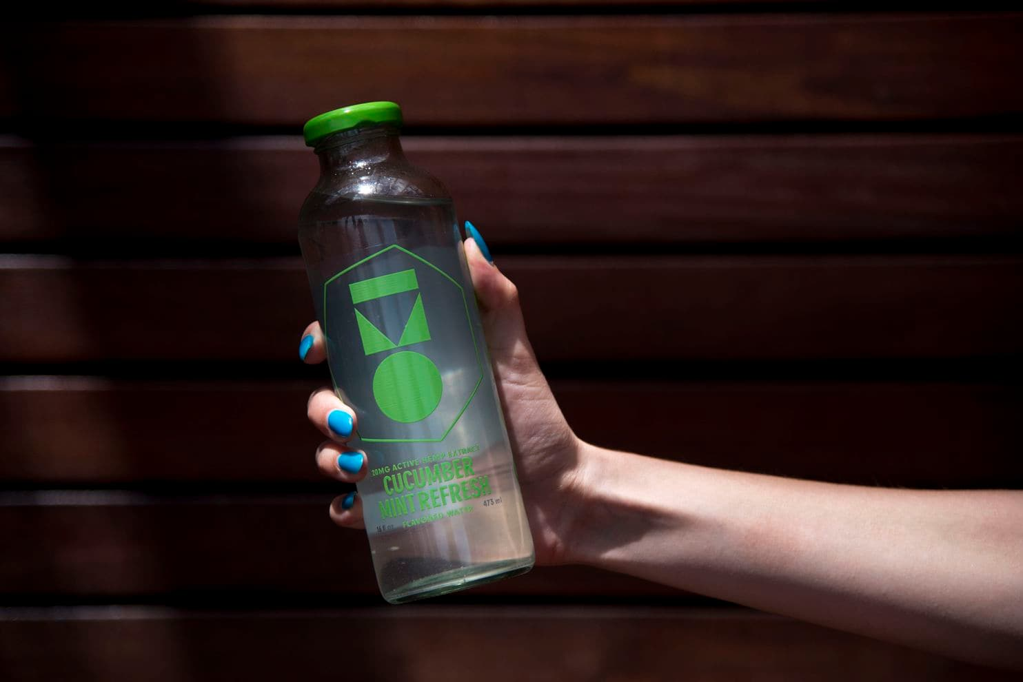 A CBD-infused water, Oki water, is set to hit major grocery stores in Colorado and California next week. The company has produced 360,000 bottles so far. (Marlena Sloss/The Washington Post)