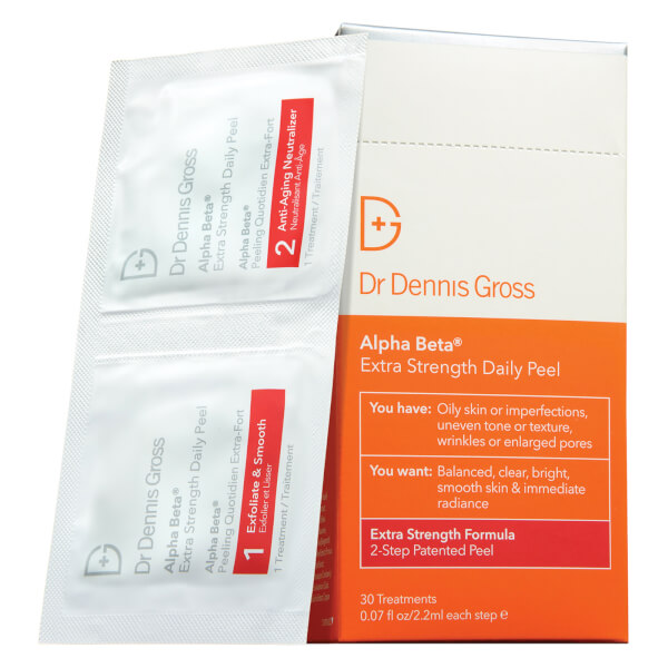 2. Alpha Beta® Extra Strength Daily Peel - Dr. Dennis Gross Skincare - I LOVE these! These helped with both my acne and fine lines SO much. It gets rid of built up dry skin by gently exfoliating. I use them every 2-3 days rather than every day as they are a bit pricey.Shop it here.
