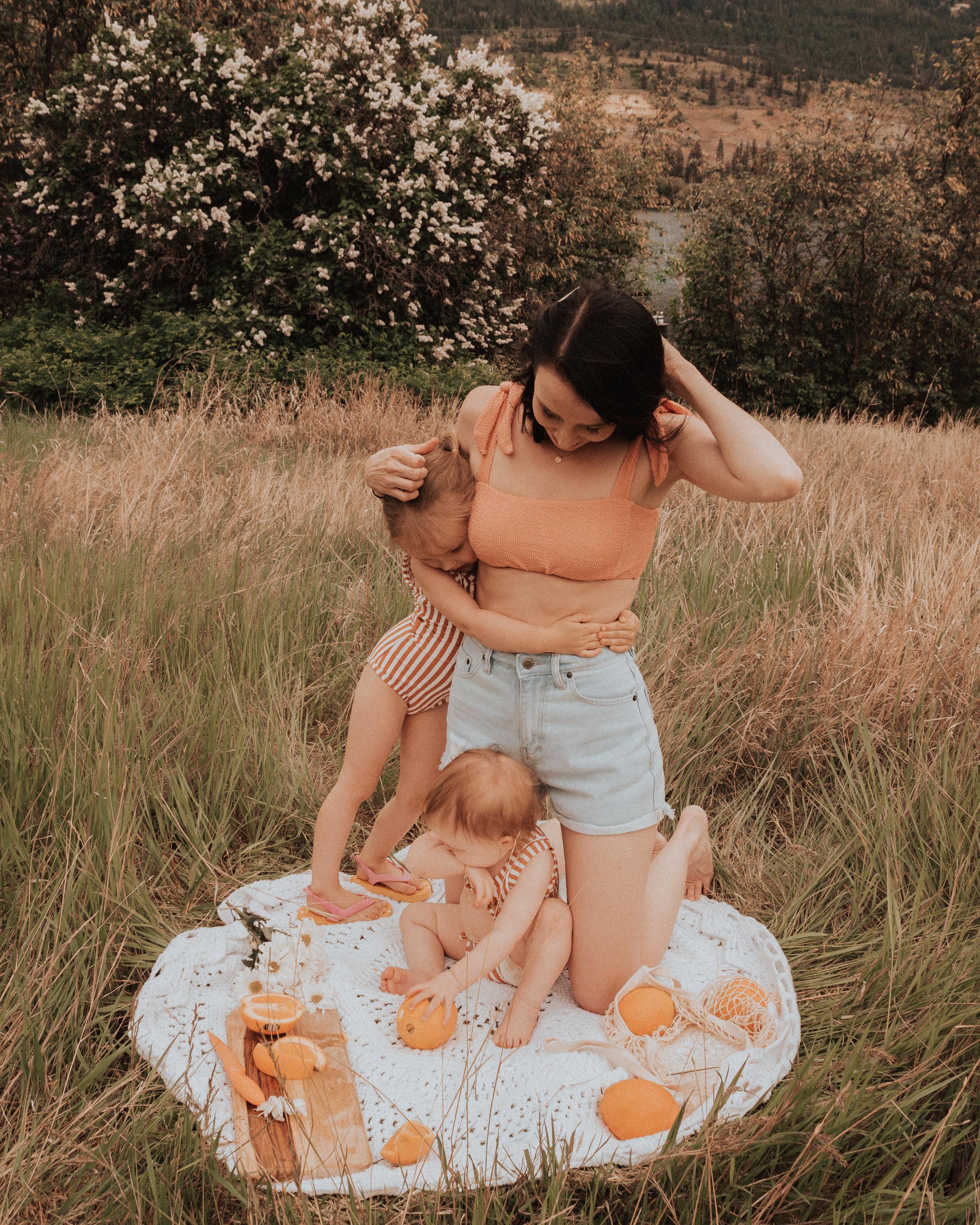 motherhood picnic family