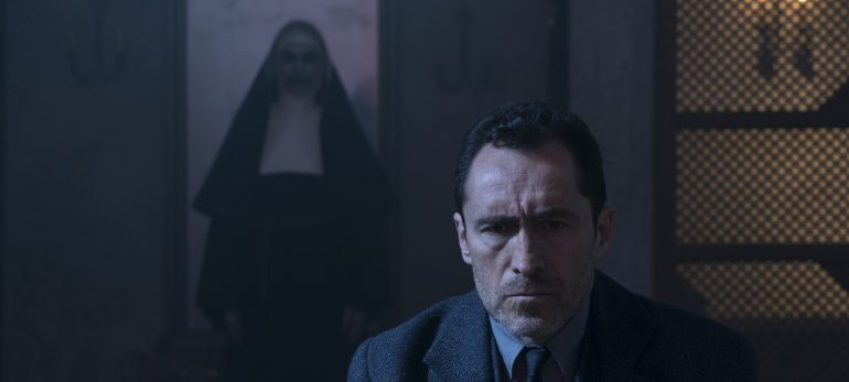 Negative space shots like this are a dime a dozen in 'The Nun.'