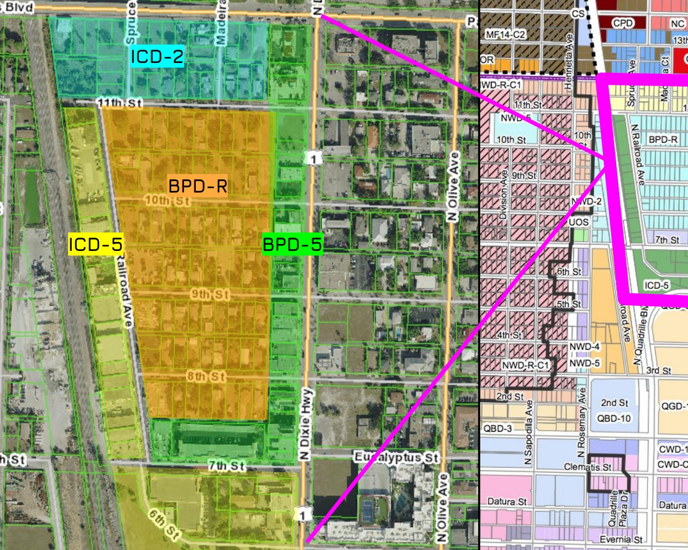 west palm beach development and neighborhood projects