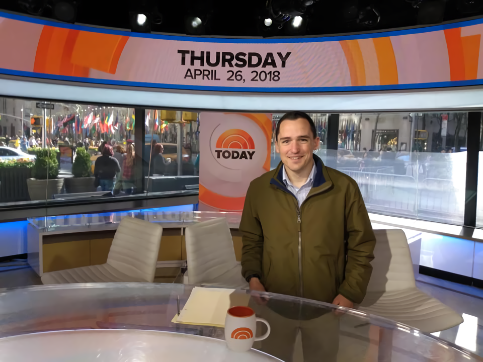 Polar Ace CEO and founder Derek Dobosz on the Today Show.