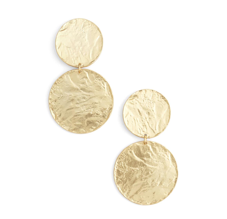 Karine Sultan Disk Earrings