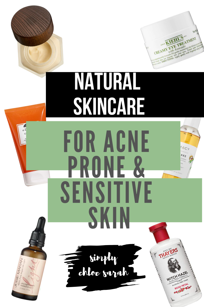 Natural Skin Care Products for sensitive and acne prone skin