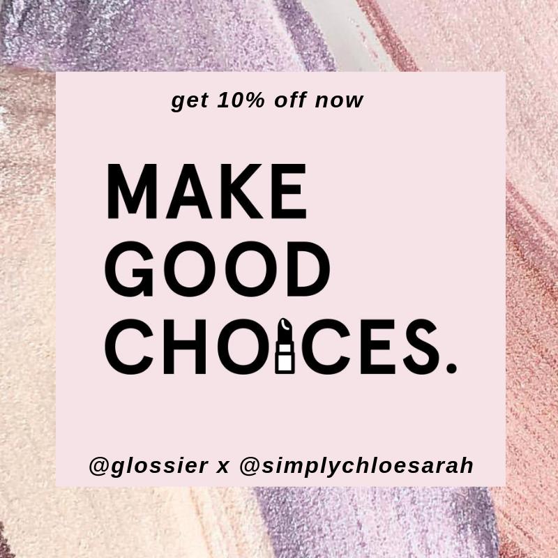 glossier discount