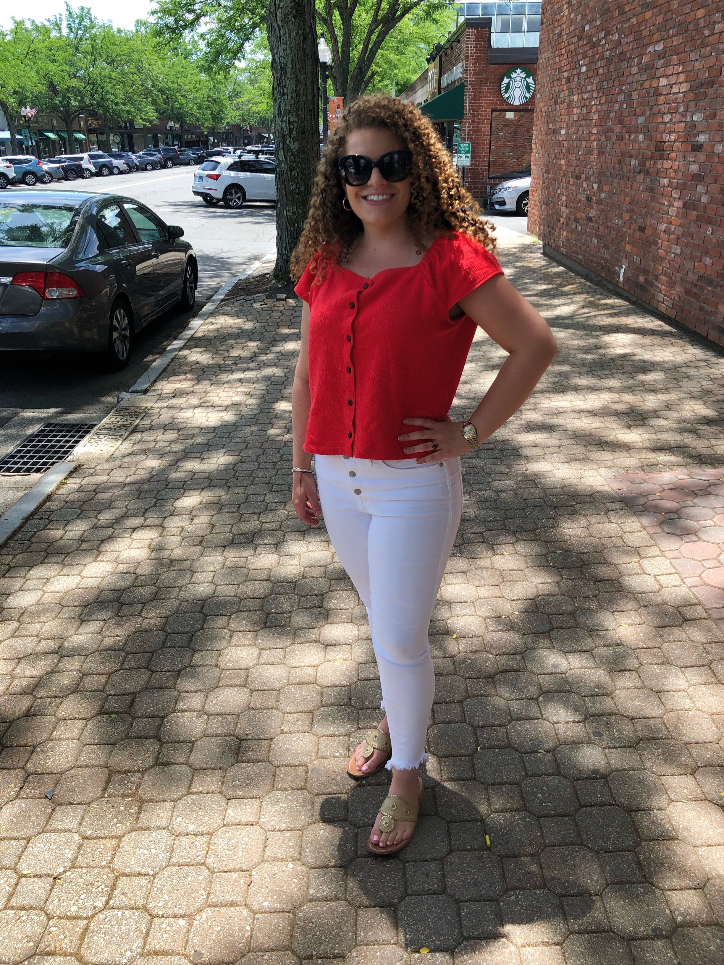 My Favorite White Jeans - it's summer, break out the white denim.