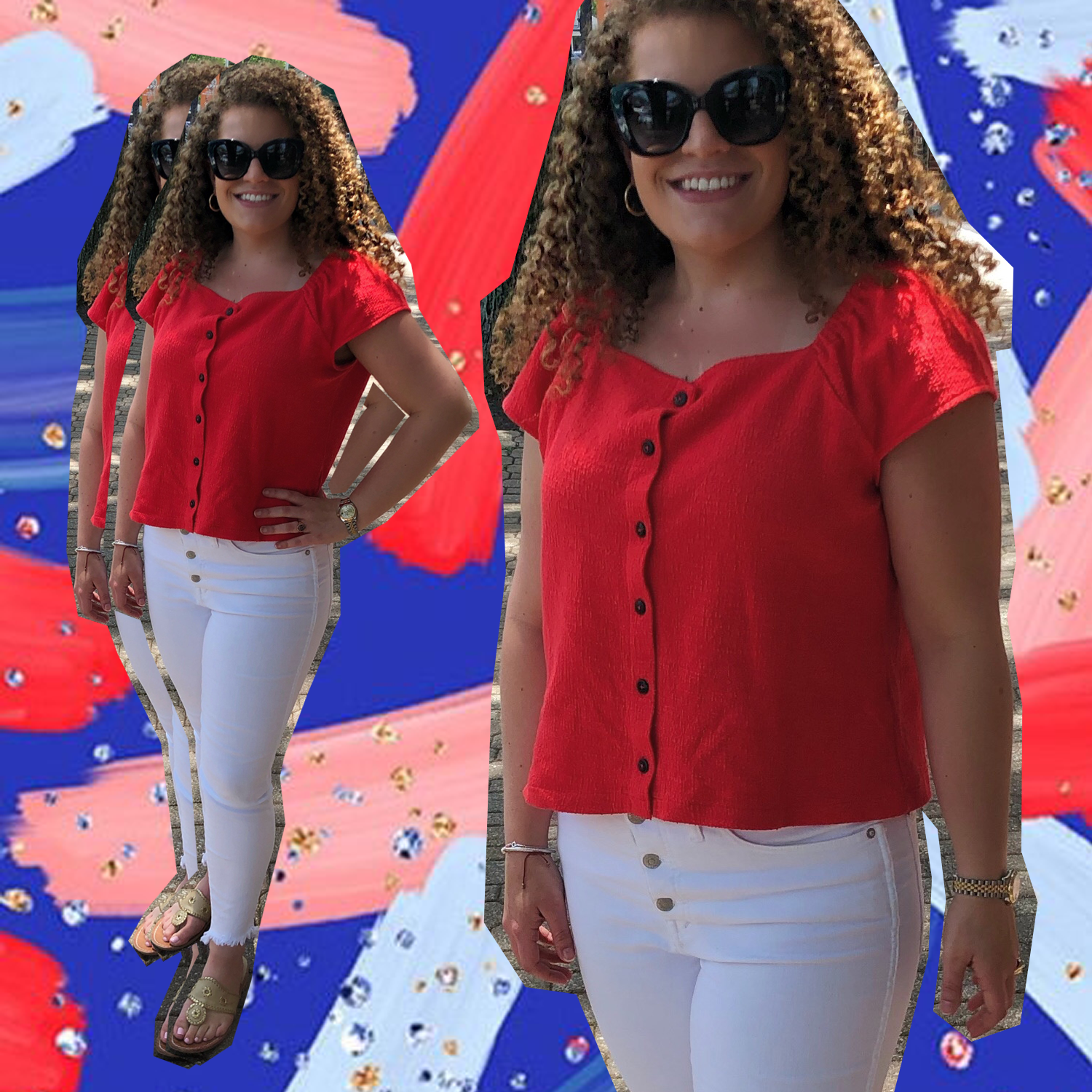 4th of July fashion & the best white jeans