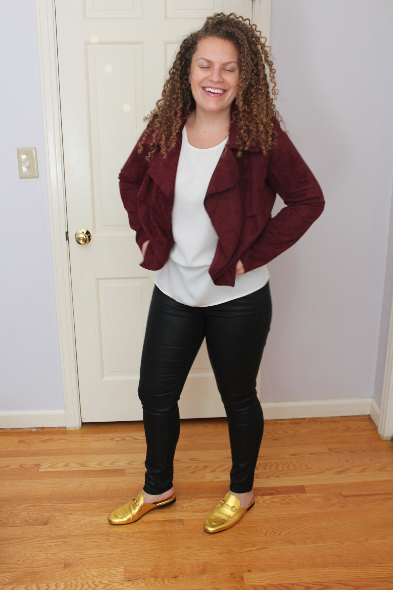 favorite pair of faux leather jeans - simplychloesarah.com