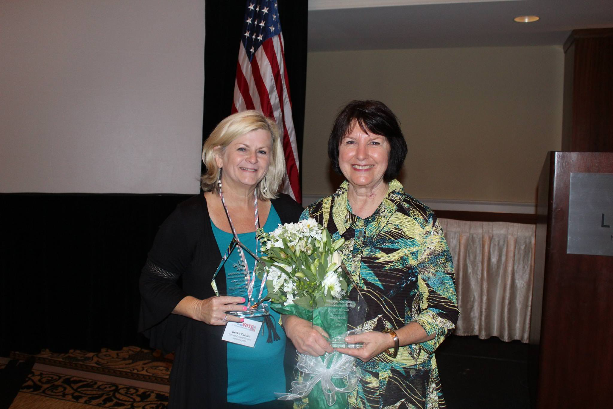 Becky Pardue, Mississippi Winner, and Blanche Jewell, Louisiana Winner