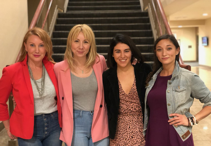 FAB FOUR:  Amy, Katey, Brianna, Nina
