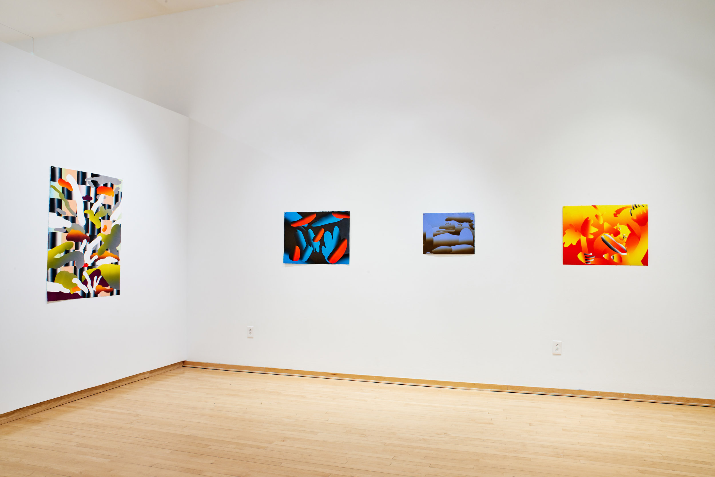 Work Title (left to right): Close Ground, Night Bloom, Alone, Eve
