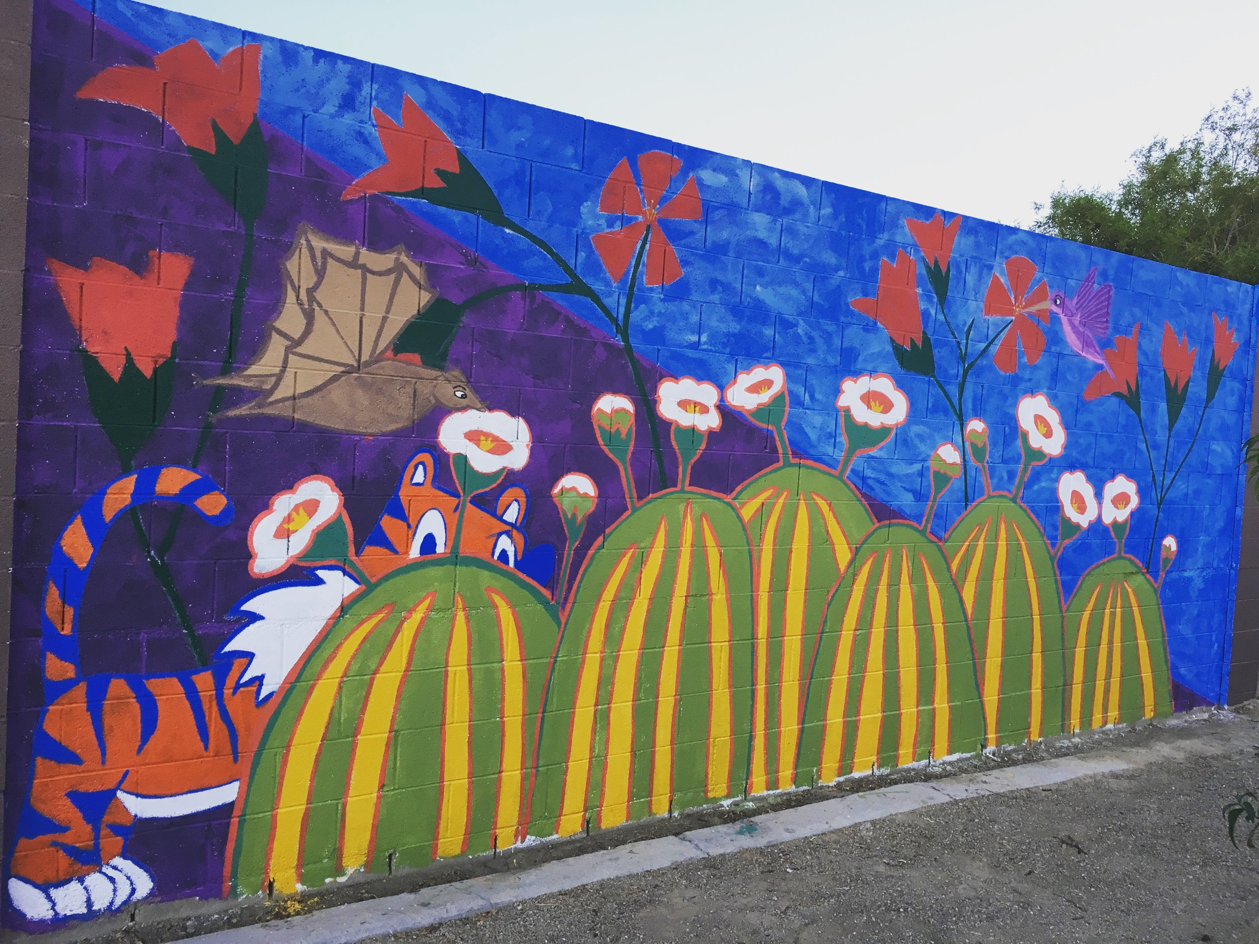 Cactus pollinator mural complete.JPG