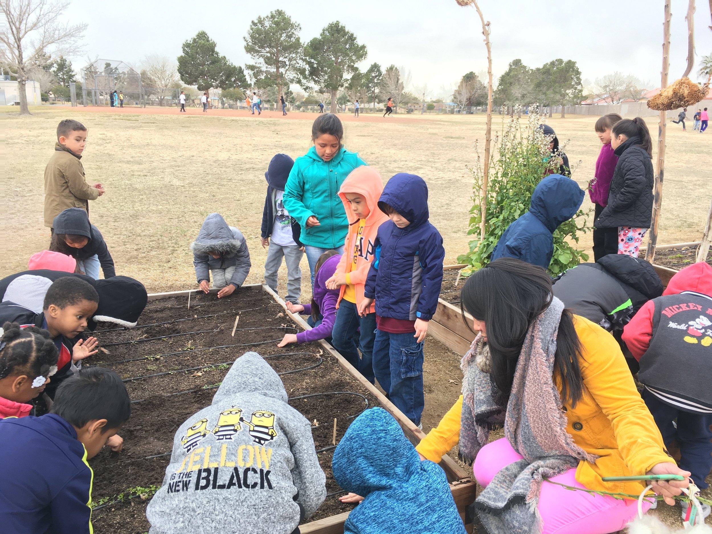 kinders in garden.JPG