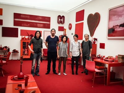 """Red Room"", Cildo Meireles installation"