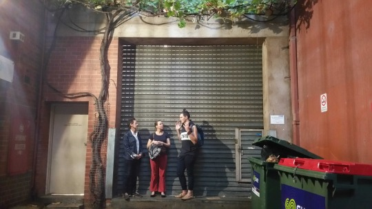 Leading a workshop on soundscape listening in the Adelaide CBD, April 2017